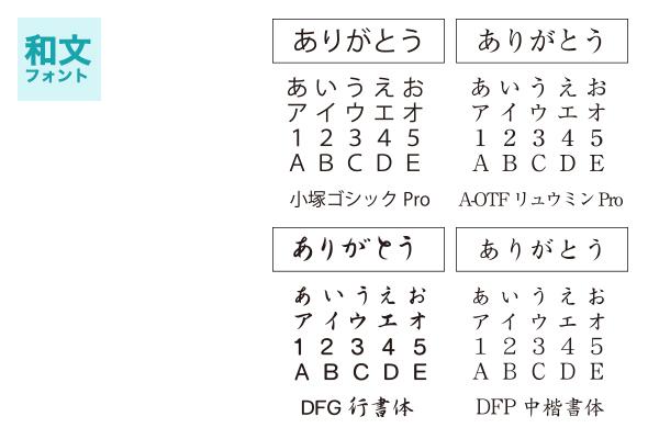 フォント種類和