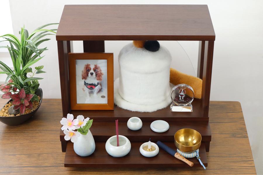 ペット仏壇 ステージ ウォールナット